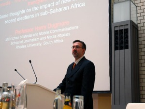 Prof Harry Dugmore In Berlin discussing future of new media in africa
