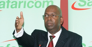 Safaricom Chief Executive Officer Robert Collymore address journalist during the release of the company results on November 10 2010.