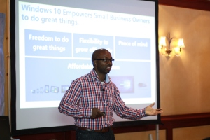 Microsoft Director, Windows Business Division, for West, East and Central Africa, Rotimi Olumide, explains how Windows 10 works.